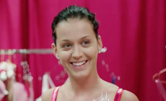 Katy Perry without makeup in Katy Perry: Part of Me.