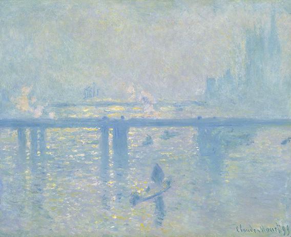 Claude Monet's Charing Cross Bridge, 1899, oil on canvas.