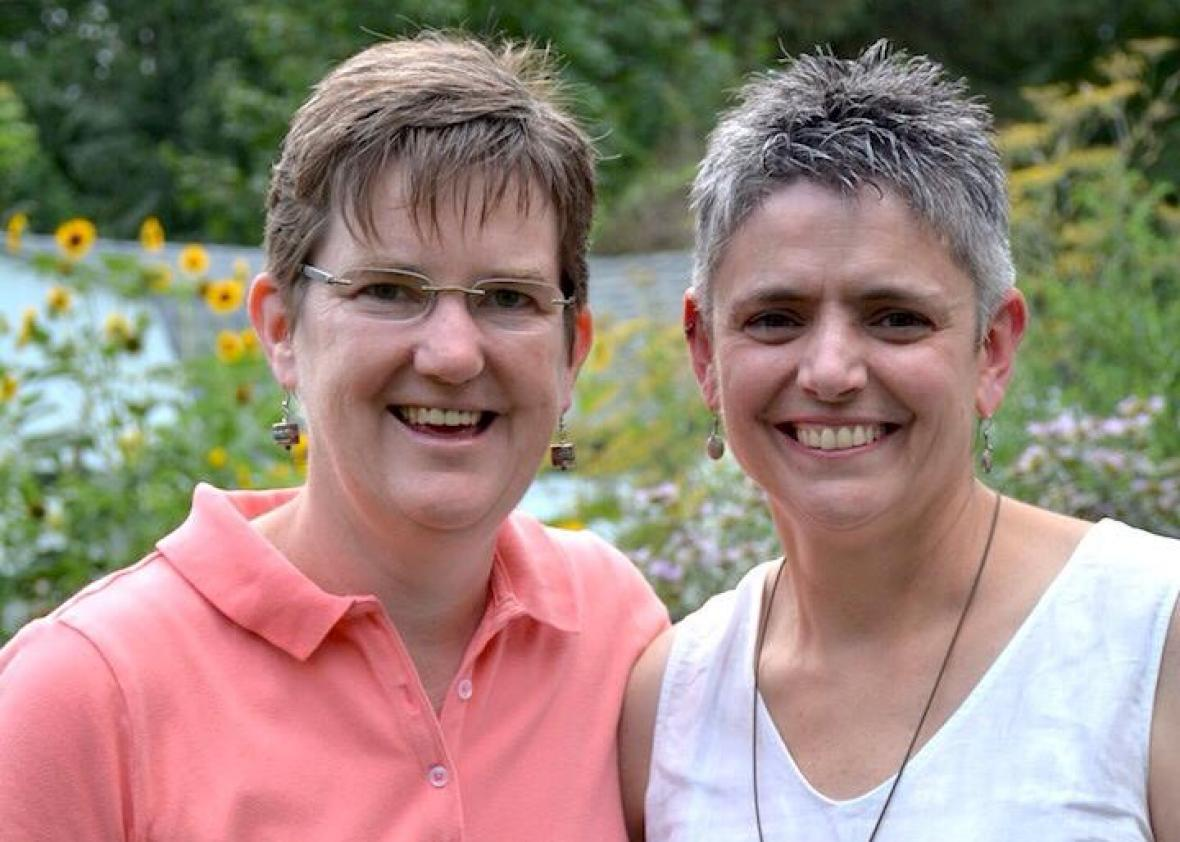 Margie Winters and her wife, Andrea Vettori