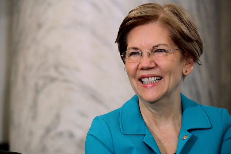 Sen. Elizabeth Warren (D-MA) attends the Rev. Al Sharpton's National Action Network post-midterm election meeting in the Kennedy Caucus Room at the Russell Senate Office Building on Capitol Hill November 13, 2018 in Washington, D.C.