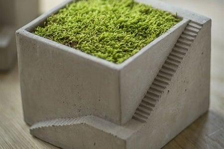 Mothology Cement Architectural Cube Planter