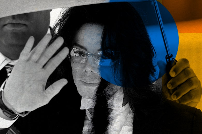 Michael Jackson waves as he leaves the Santa Barbara County Superior Court.