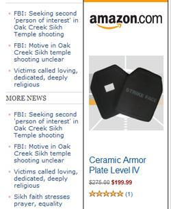 Body Armor Targeted Ad