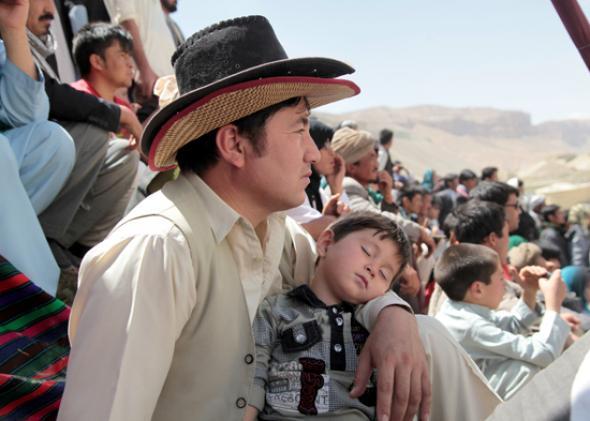 Spectators at Bamiyan's Sixth Silk Road Festival.