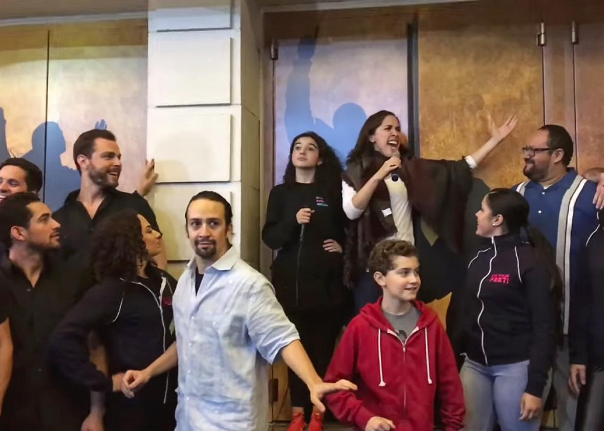 Hamilton Ham4Ham show with the cast of On Your Feet