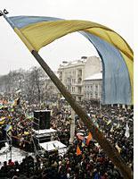 Yushchenko supporters rally in Lviv