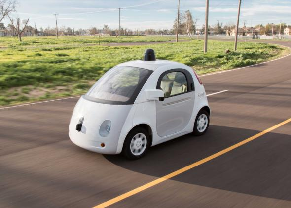 Google's self-driving car prototypes don't require a human driver—but California law does.