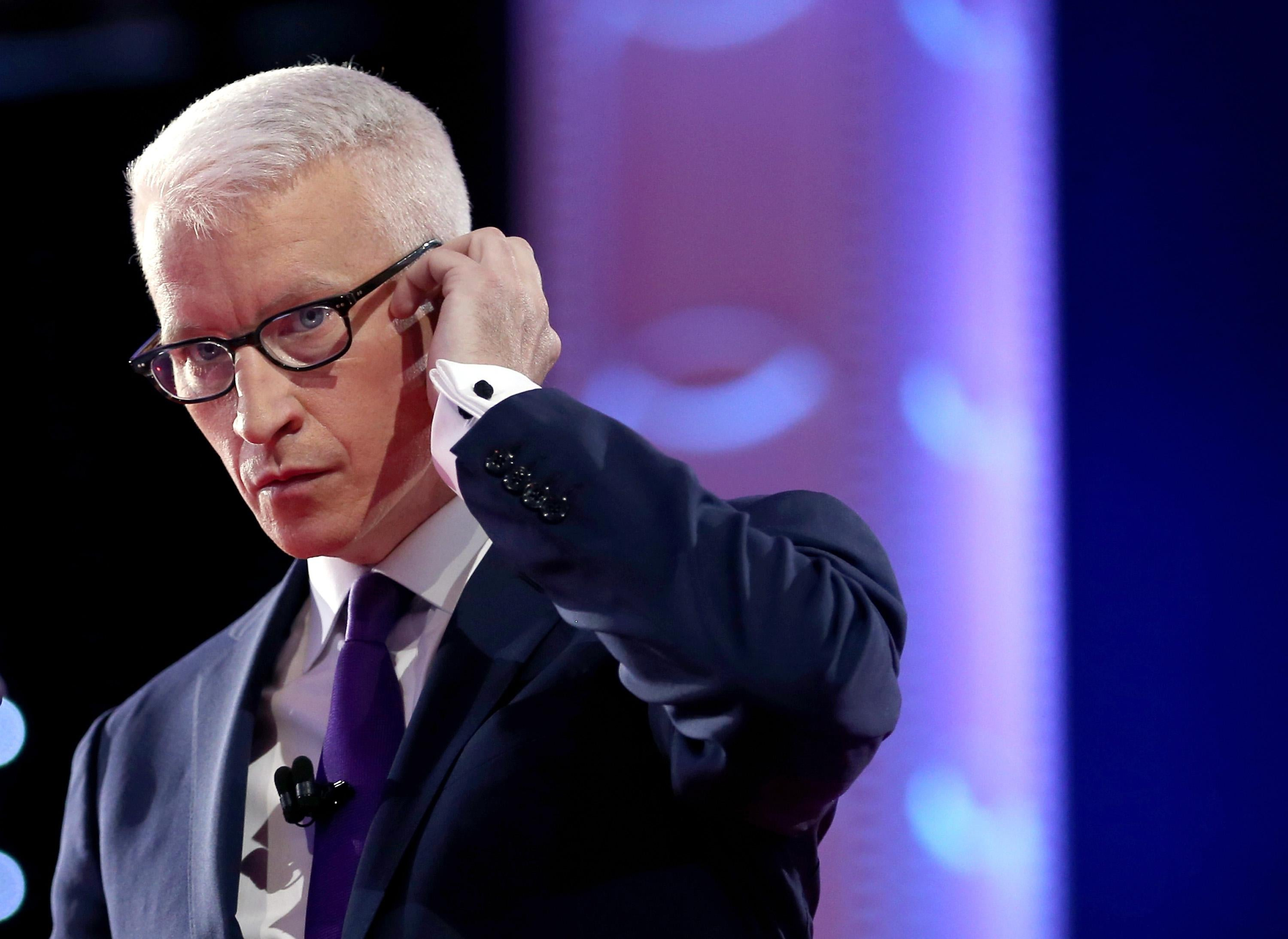 CNN anchor Anderson Cooper.