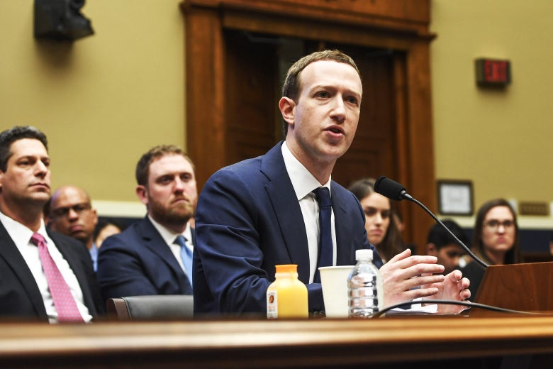 Mark Zuckerberg testifies.