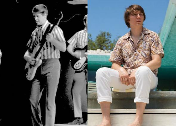 Brian Wilson in 1964s and Paul Dano in Love & Mercy