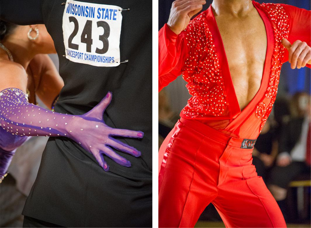 Left: Wisconsin State Dancesport, couple 243 2012 Right: Wisconsin State Dancesport, red rhythm man 2012