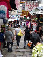 Along the Ladder Street in central Hong Kong