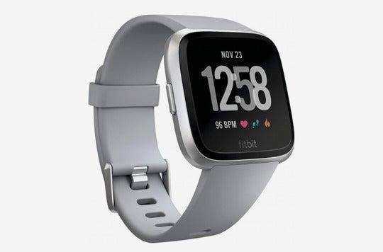 Fitbit Versa Smart Watch, Gray/Silver Aluminum.