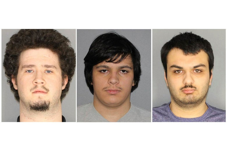 Mug shots of the three non-juvenile alleged plotters.