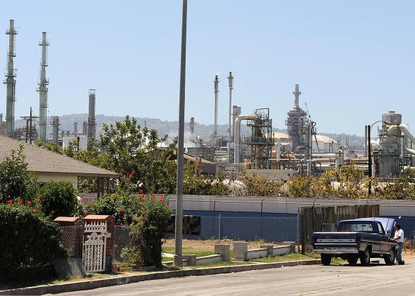 Oil refinery California.