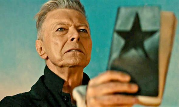 "David Bowie in the video for ""Blackstar."""