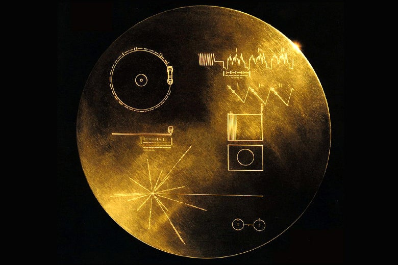 Cover of Voyager Record by Frank Drake and Jon Lomberg.