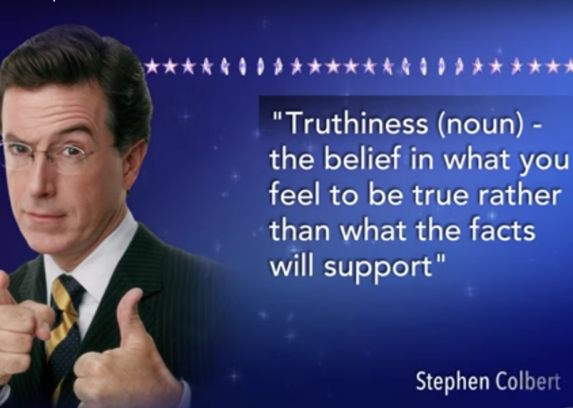 Image result for truthiness colbert