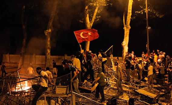 Protesters in Istanbul.