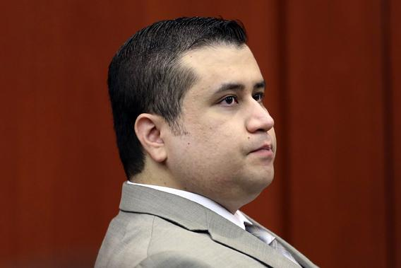 George Zimmerman listens to testimony from forensics animation expert Daniel Shoemaker in the courtroom for his trial in Seminole circuit court, in Sanford, Florida, July 9, 2013.
