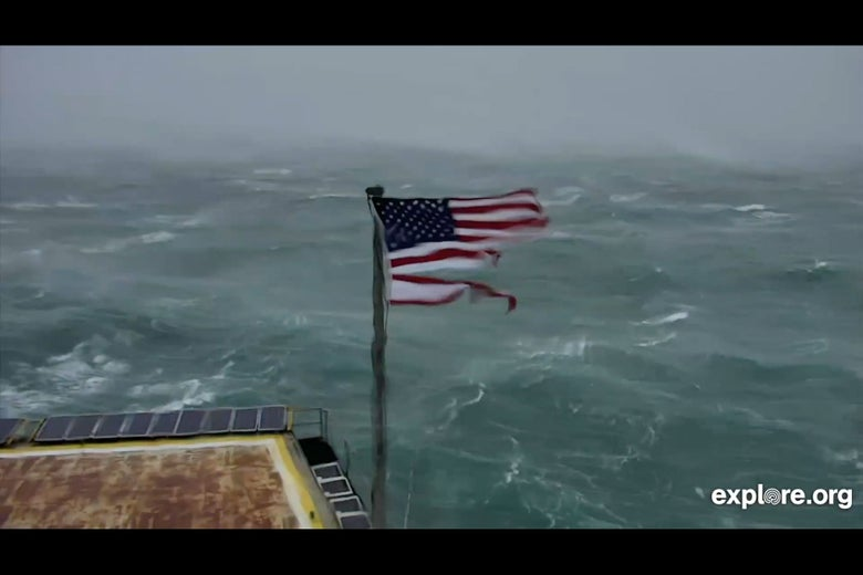 Frying Pan Tower Live Video Of Hurricane Florence Features