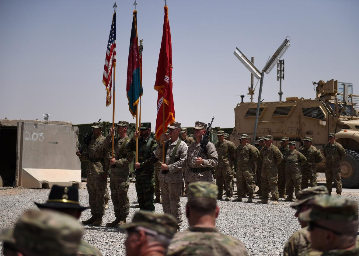 US Marines and Afghan National Army