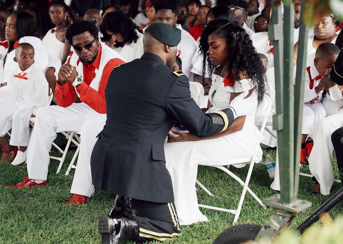 Myeshia Johnson, widow of U.S. Army Sgt. La David Johnson