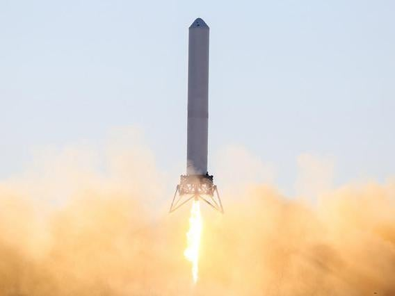 Test flight of the SpaceX Grasshopper rocket