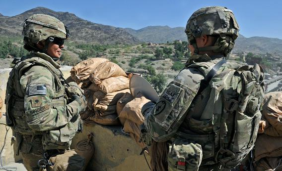 US soldiers in Afghanistan.