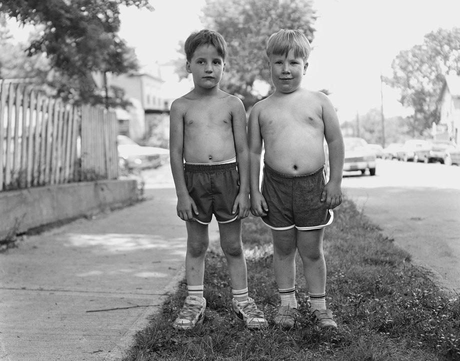 Two Shirtless Boys