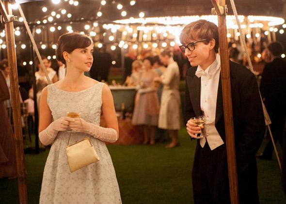 Felicity Jones and Eddie Redmayne in The Theory of Everything.