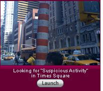 "Click here to launch the slideshow ""Looking for ""Suspicious Activity"" in Times Square""."