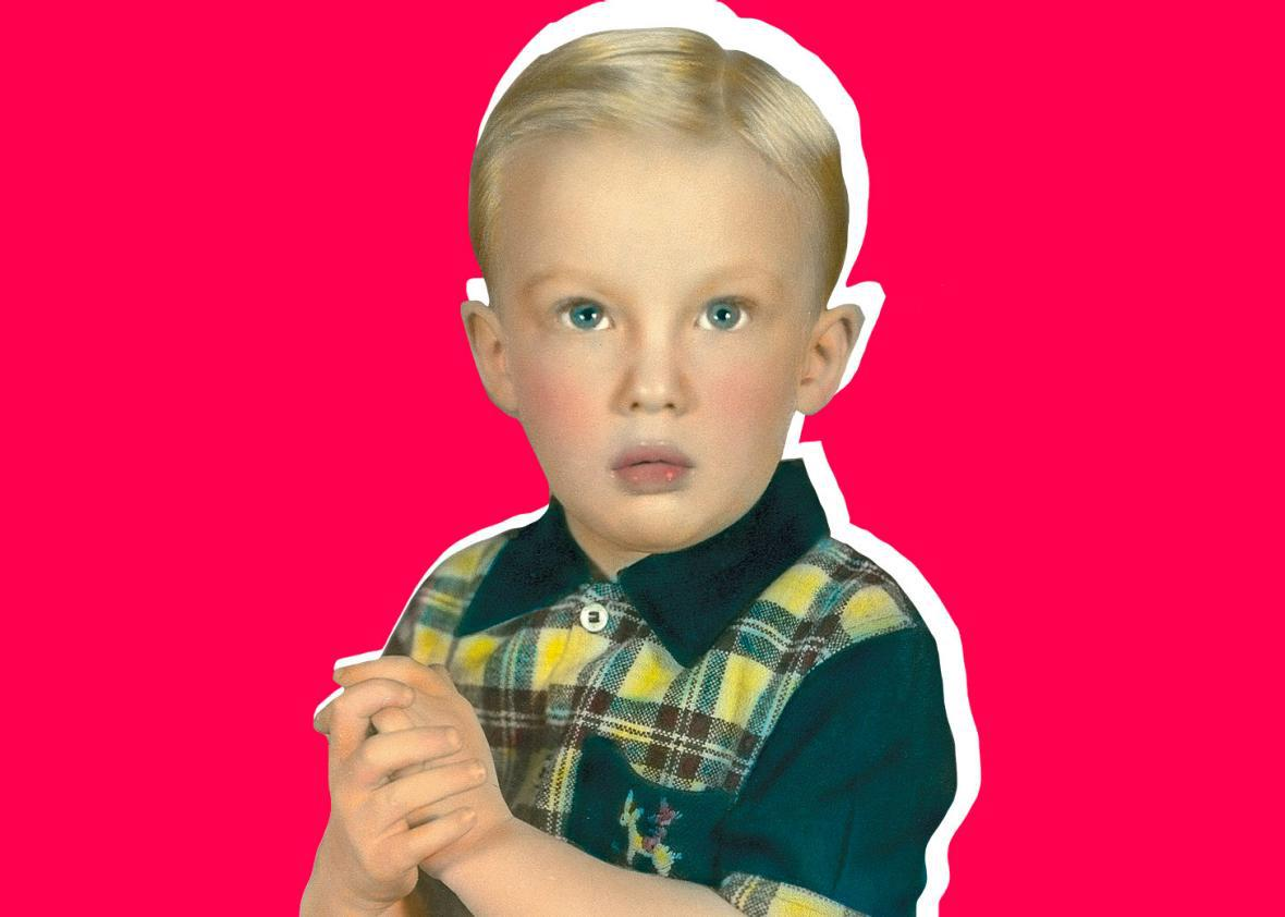 Donald Trump as a child sometime between 1946 and 1955.