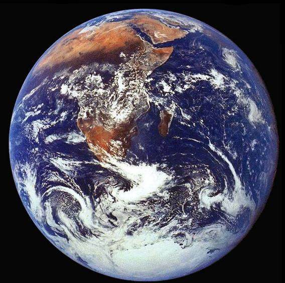 The crew of Apollo 17 took this photograph of Earth in December 1972.