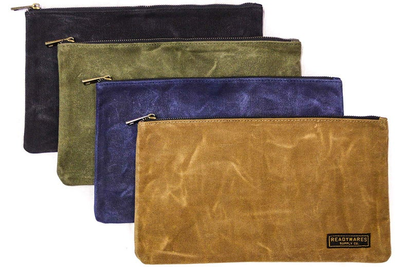 canvas zipper pouches
