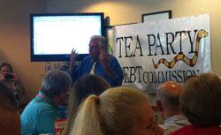 Dick Armey speaking to FreedomWorks activists in Orlando, Fla.