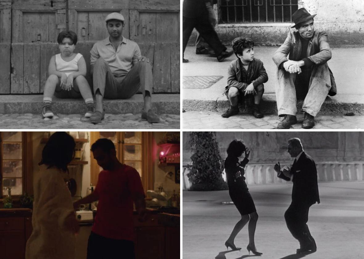 Master of None's second season includes homages to Italian such as Bicycle Thieves, La Notte, La Dolce Vita, L'Avventura, L'Ecclise, and 8½.