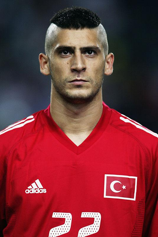 Umit Davala of Turkey before the FIFA World Cup match between Senegal and Turkey in Osaka, Japan on June 22, 2002.
