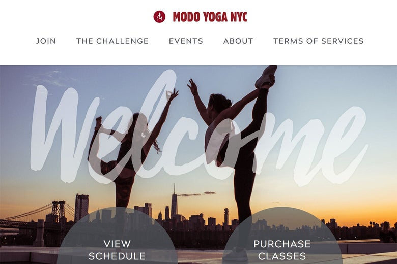 Modo Yoga website