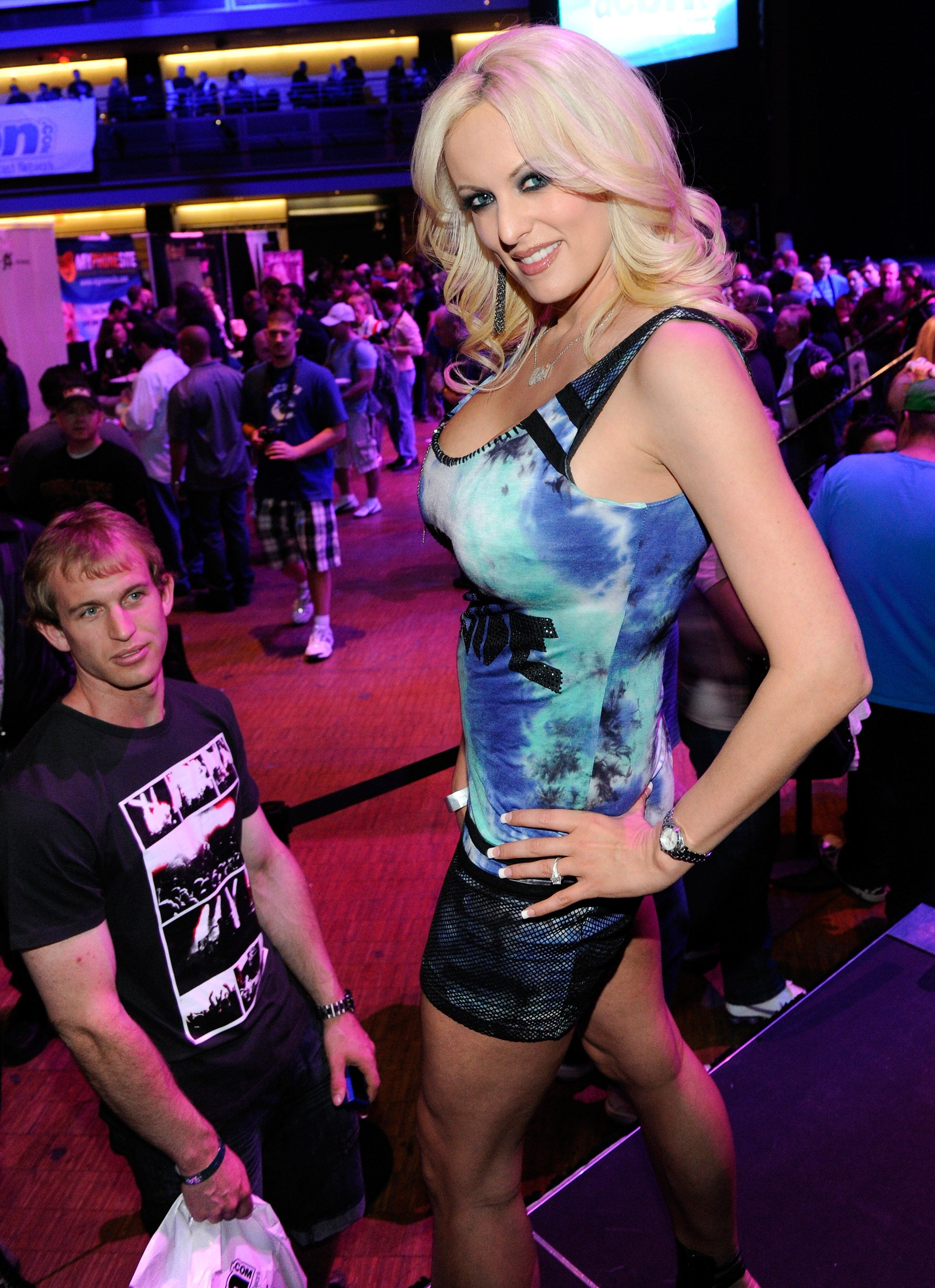 Stormy Daniels at the 2012 AVN Adult Entertainment Expo in Las Vegas.