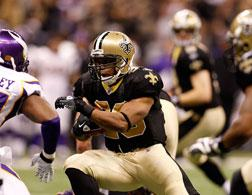 Pierre Thomas #23 of the New Orleans Saints. Click image to expand.