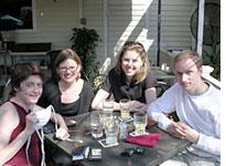 Lunch with friends: Janet, Jules, and Jeffrey