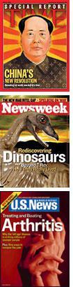 Time, Newsweek, U.S. News and World Report