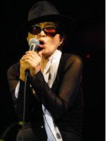 Yoko Ono at the Pitchfork Music Festival. Click image to expand.