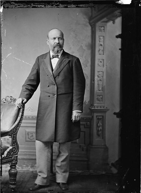 President James A. Garfield between 1870 and 1880.