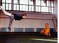 The author at practice in the Wushu Center training hall in 1992