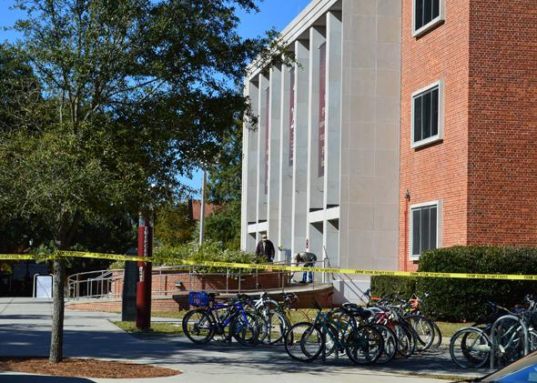 Florida State University shooting crime scene