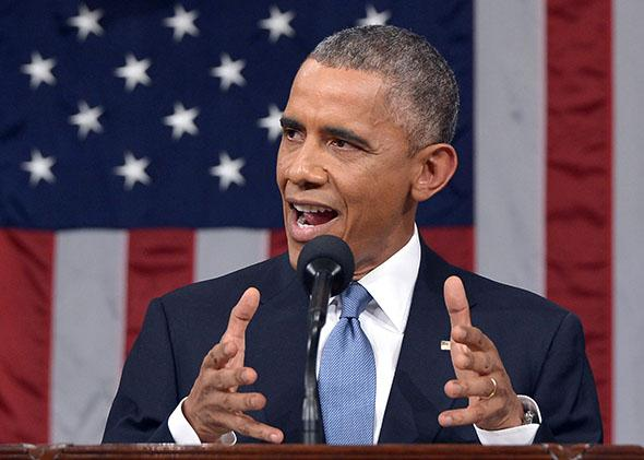 President Obama delivers the State of the Union address.