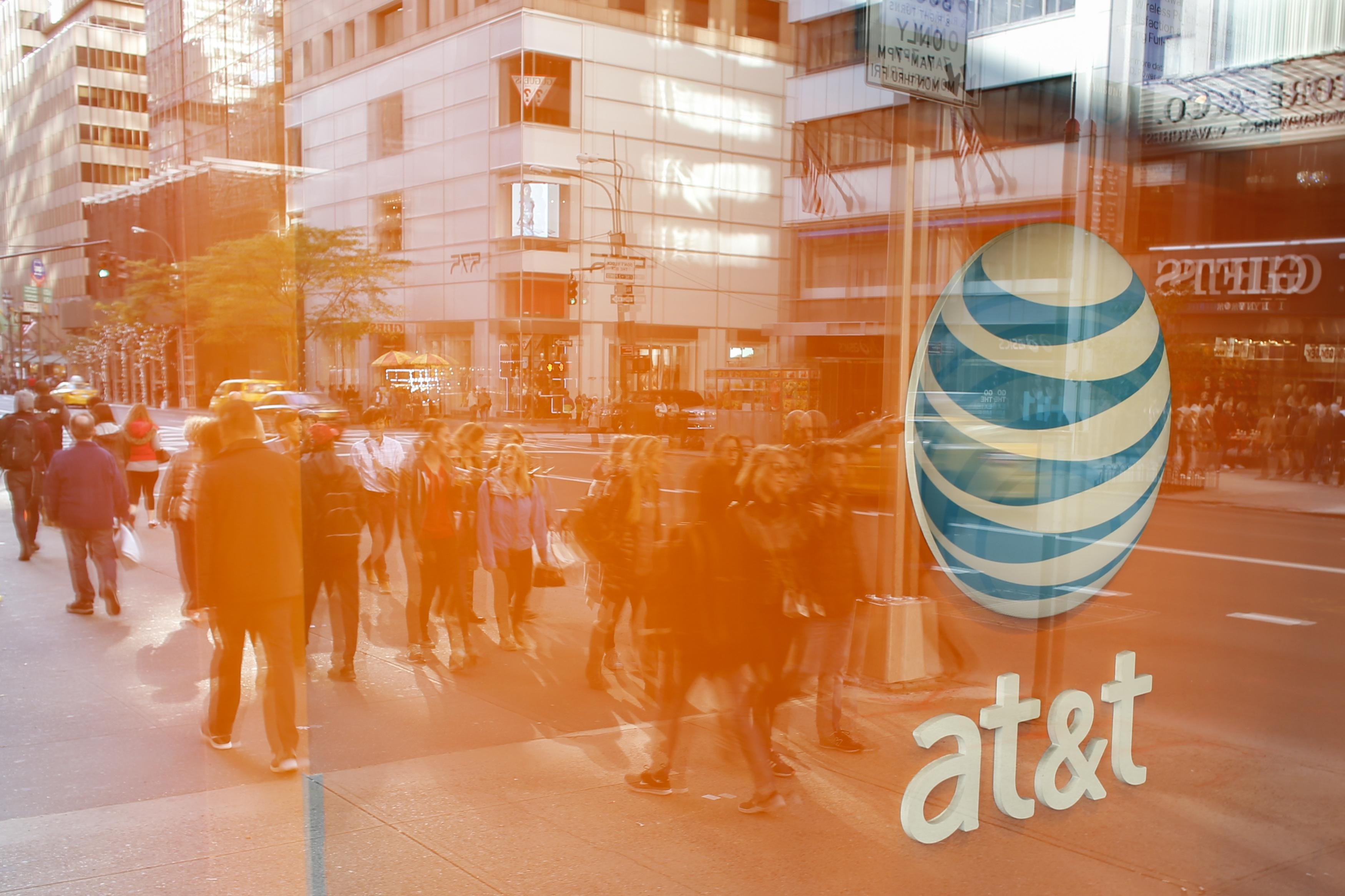 An AT&T store on 5th Avenue in New York.
