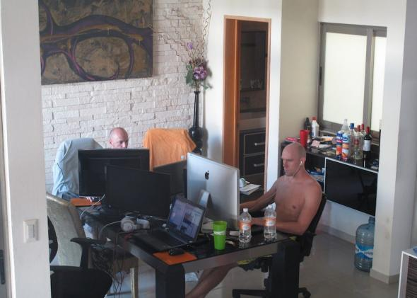 Seth Davies and Gus Voelzel play online poker at poker.